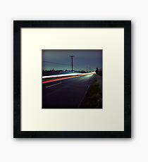 Blue Roads Framed Print