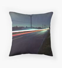 Blue Roads Throw Pillow