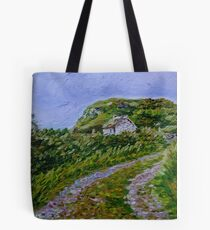 """Ruined Cottage near Kinny Lough, Magheradrumman, Fanad, Donegal."" Tote Bag"