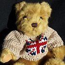 Union Jack Teddy Bear by Bev Pascoe