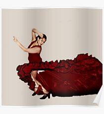 Flamenco Fire Poster
