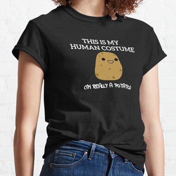 Dies ist mein menschliches Kostüm Ich bin wirklich ein Kartoffel-lustiges Design Classic T-Shirt