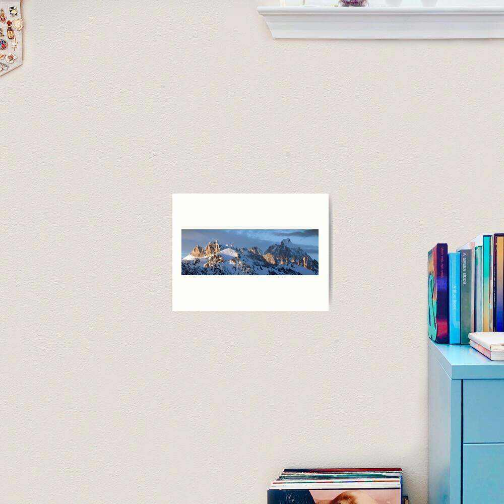 Howling Wolf and the Grand Teton (pan) Art Print