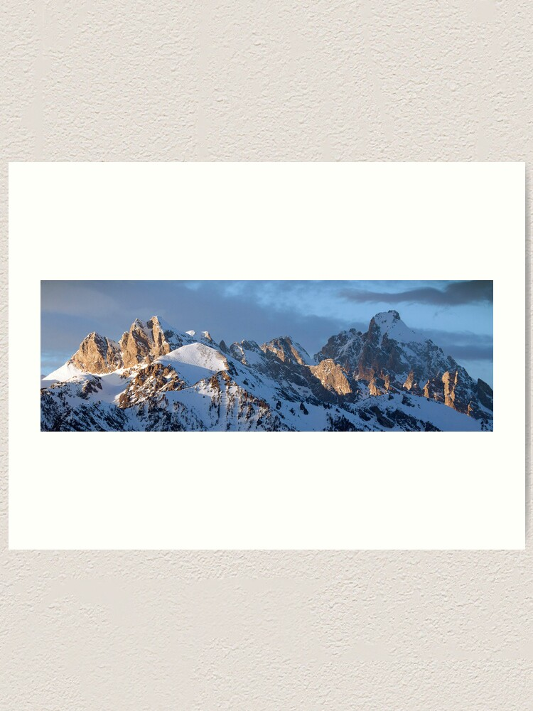Alternate view of Howling Wolf and the Grand Teton (pan) Art Print