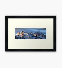 Howling Wolf and the Grand Teton (pan) Framed Print
