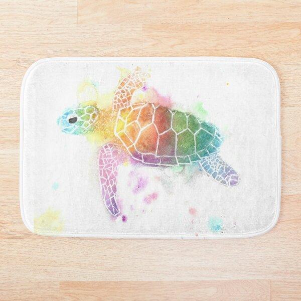 watercolour Turtle Bath Mat