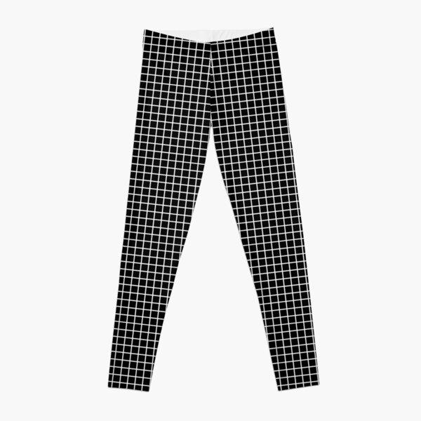 Black and White | Waffle Grid Leggings
