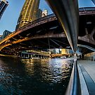 fisheye from Chicago river walk by Sven Brogren