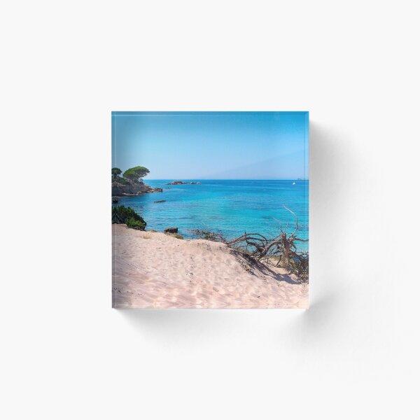 La plage de Folaca Bloc acrylique