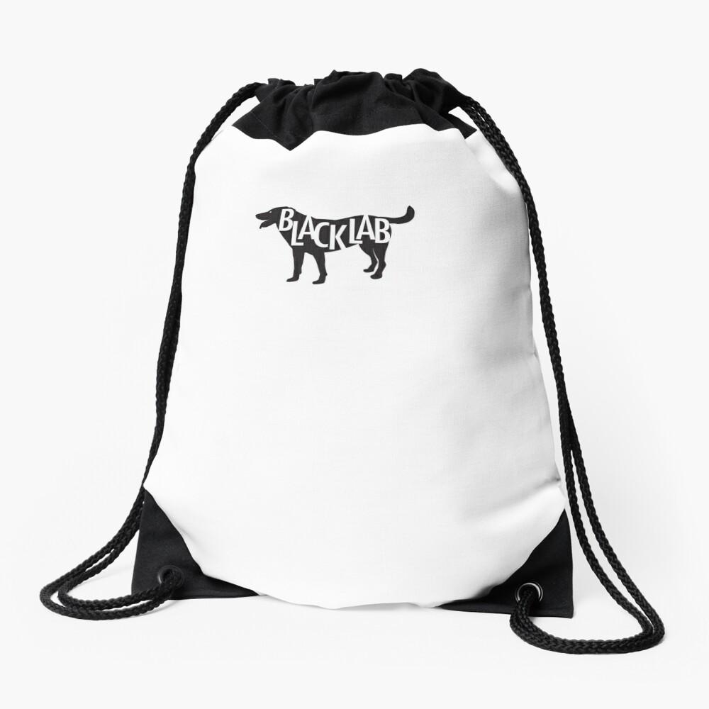 Black Lab Drawstring Bag