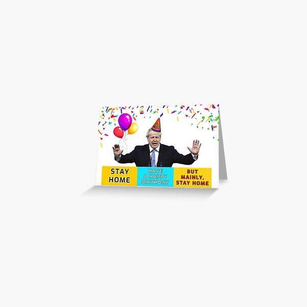 Boris Johnson Funny Birthday, Great Britain, British, England, UK Greeting Card
