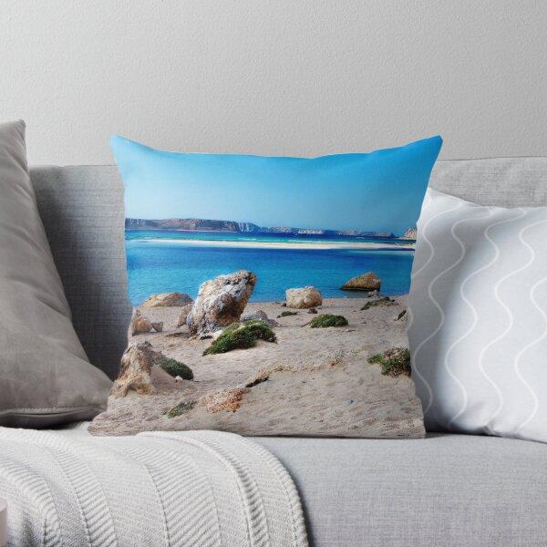 La plage de Balos Coussin