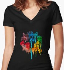 Colour Wheel Women's Fitted V-Neck T-Shirt