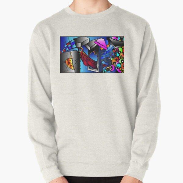 Velvet Cape Pullover Sweatshirt