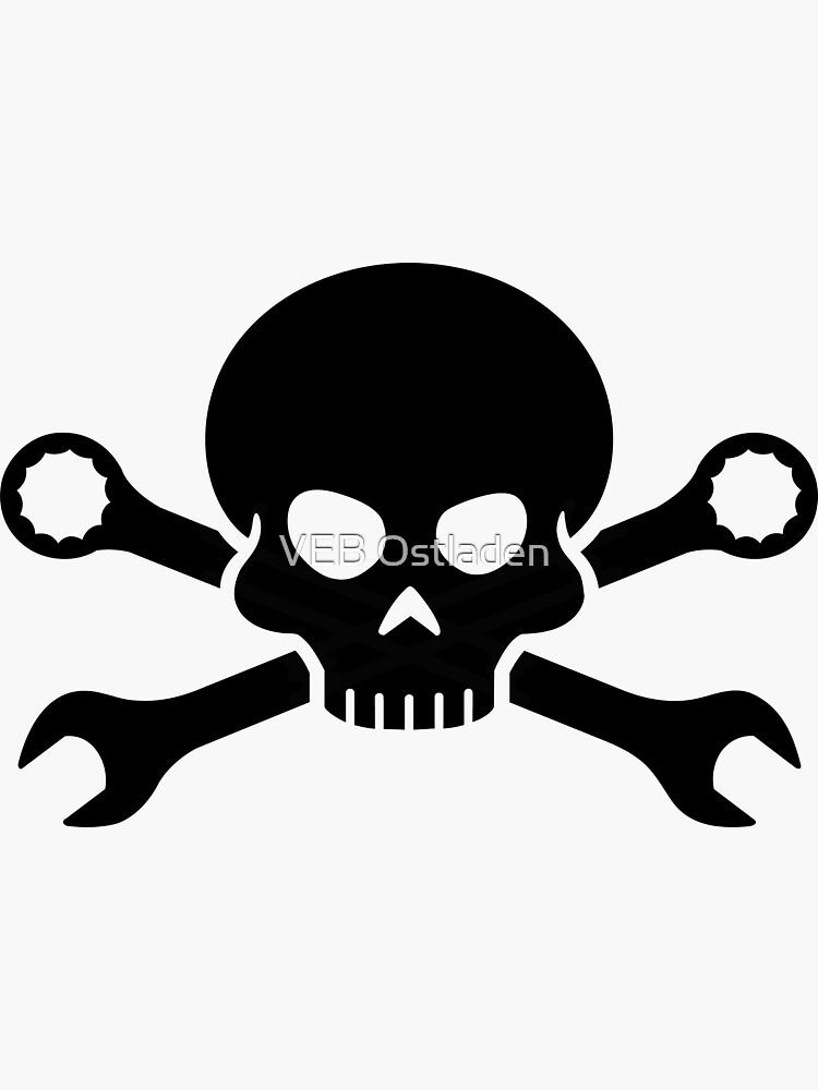 Skull 'n' Tools - Schrauber Pirat 1 (schwarz) von GetThatCar