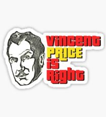 Vincent Price is Right Sticker