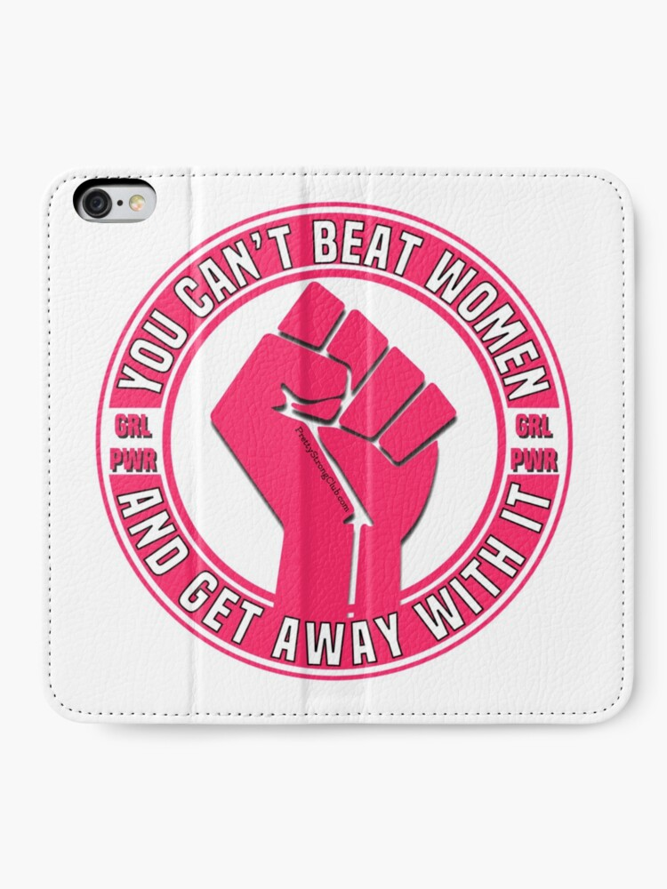 Alternate view of You Can't Beat Women iPhone Wallet