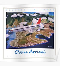 Oahu Arrival NWA Boeing 707 ver 2 Poster