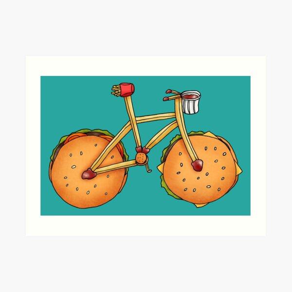 Burger & Frycycle Art Print