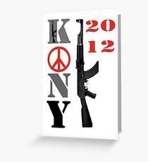 kony 2012 Greeting Card