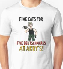 Five Cats for Five Deutsch Marks T-Shirt