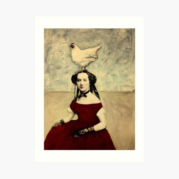 Queen Hen Art Print