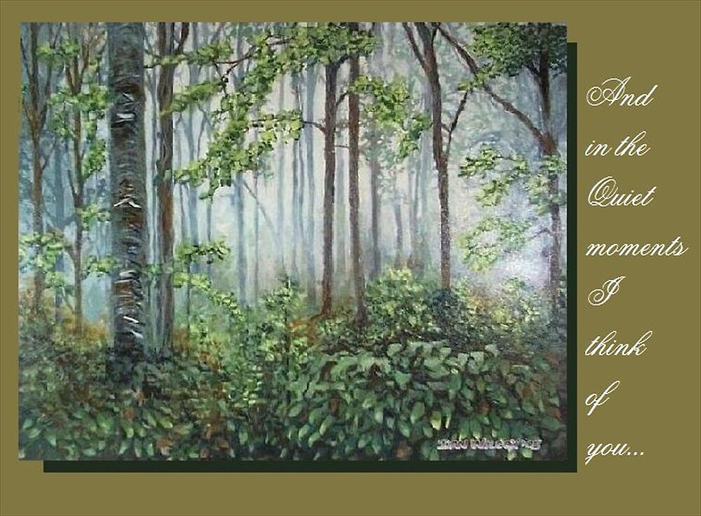 Quiet moment greeting card by Dan Wilcox
