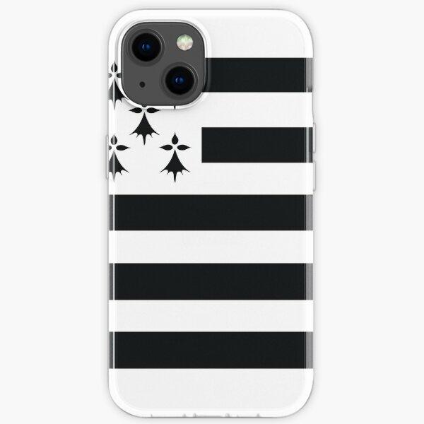 Bretagne gwenn ha du drapeau breton Coque souple iPhone