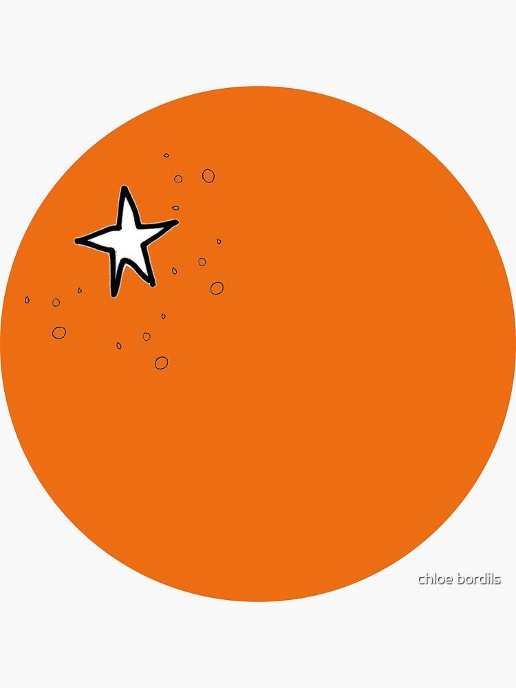 Naranja, la fruta - ilustración minimalista de chloebordils