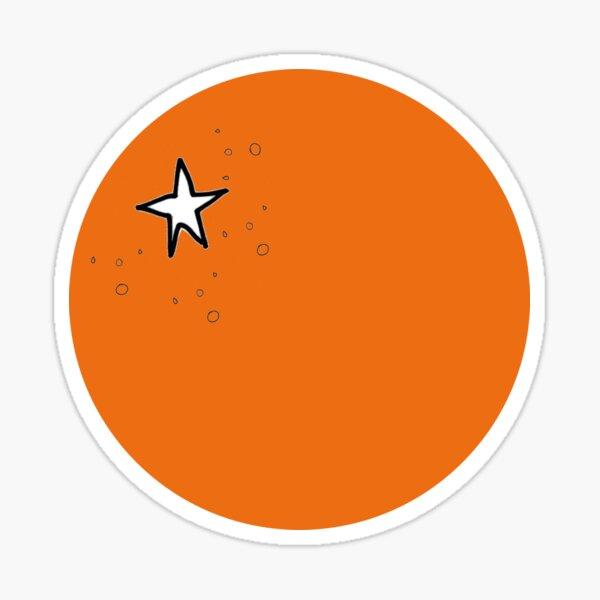 Naranja, la fruta - ilustración minimalista Pegatina