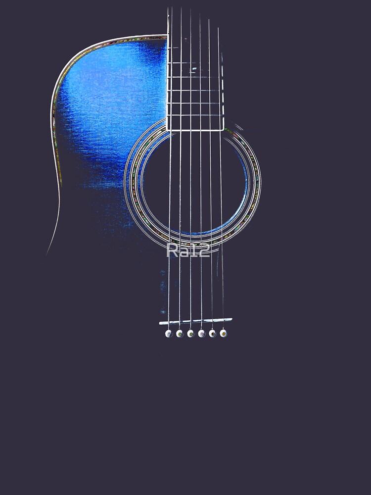 Blue Acoustic Guitar Hi-Lite | Unisex T-Shirt