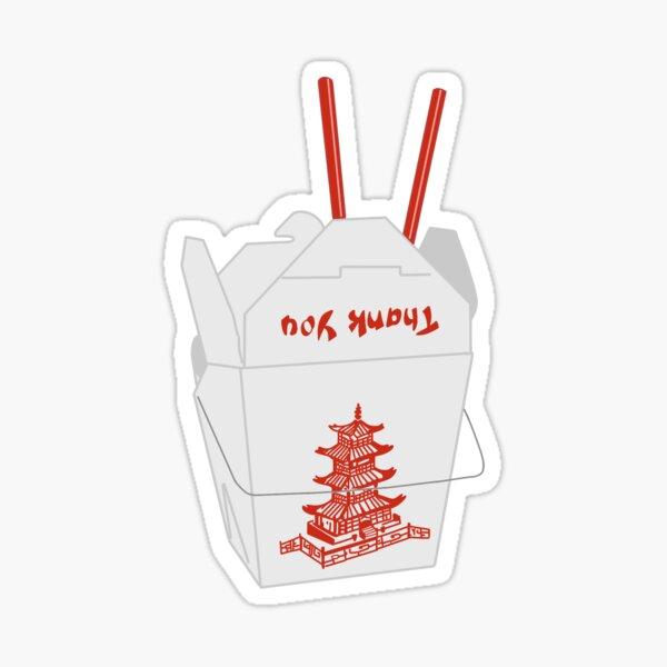 Chinese Takeout Box Sticker
