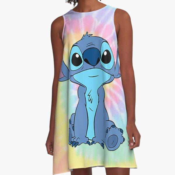 colorfull Stitch A-Line Dress
