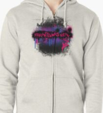 Moriarty was real (berry) Zipped Hoodie