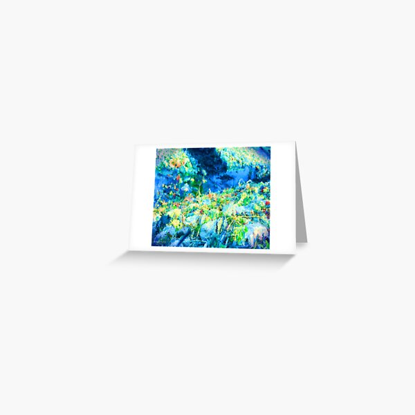 Little Rivulet In The Path Greeting Card