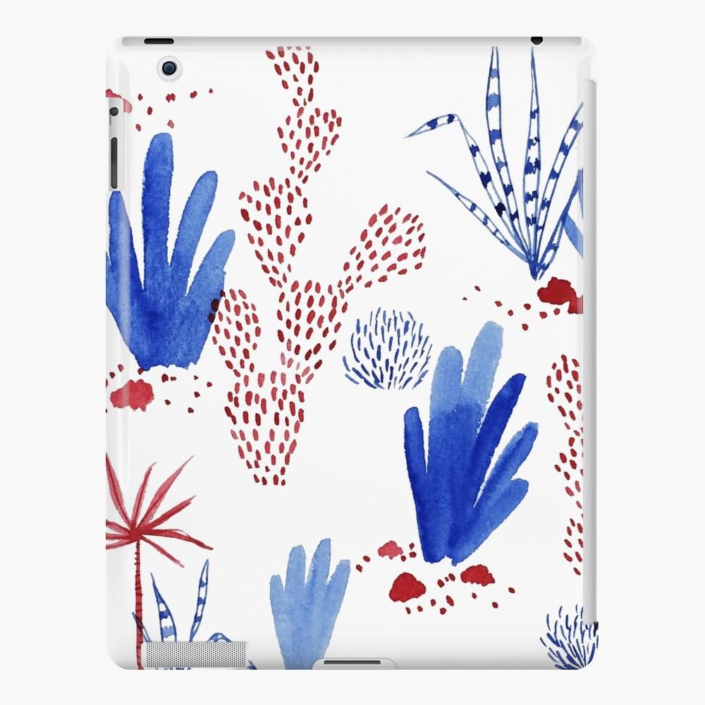 Red and blue plants Funda y vinilo para iPad