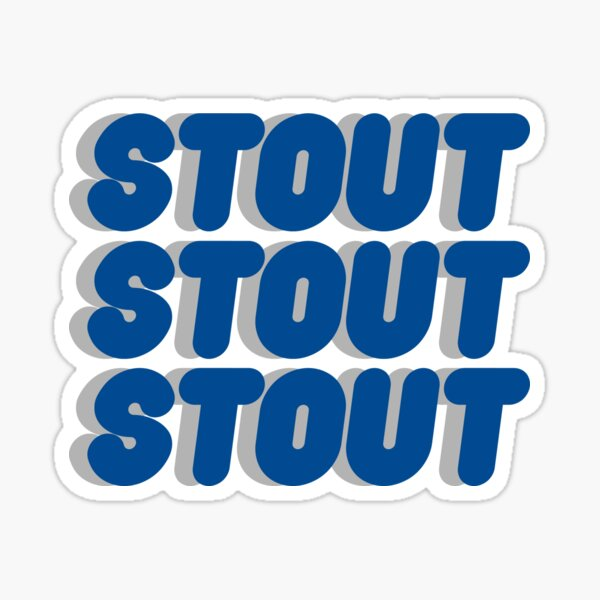 University of Wisconsin Stout Repetitive Text Sticker