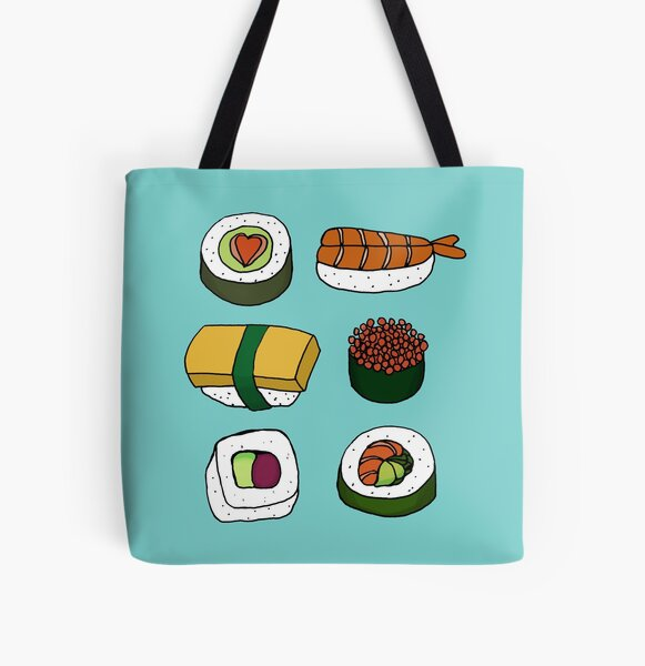 Sushi Love All Over Print Tote Bag