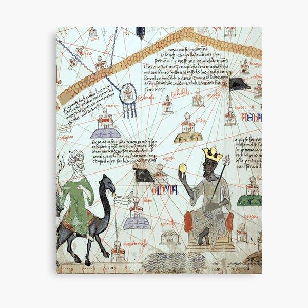 Mansa Musa from the Catalan Atlas Canvas Print