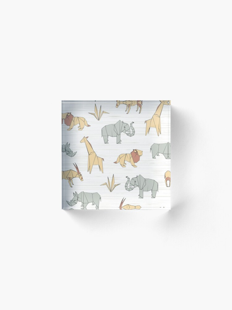 Alternate view of Origami Safari Acrylic Block