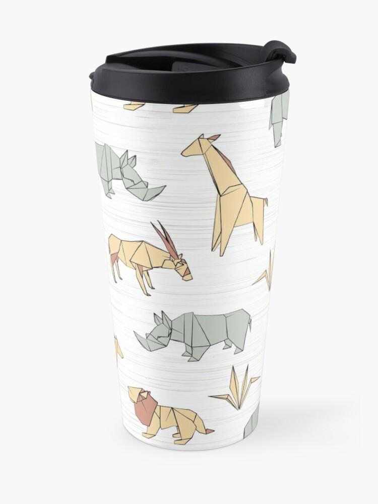Alternate view of Origami Safari Travel Mug