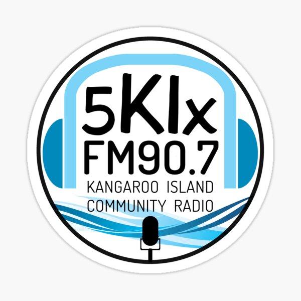 5KIx FM 90.7 Kangaroo Island Community Radio Sticker