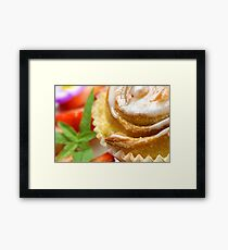 Sweet Snail Pastry Framed Print