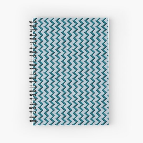 teal chevron pattern Spiral Notebook