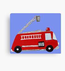 Unique red firetruck design Canvas Print