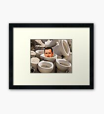 GUESS WHO Please Share   Framed Print