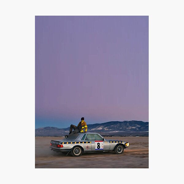 A$ap rOcky with a car Photographic Print
