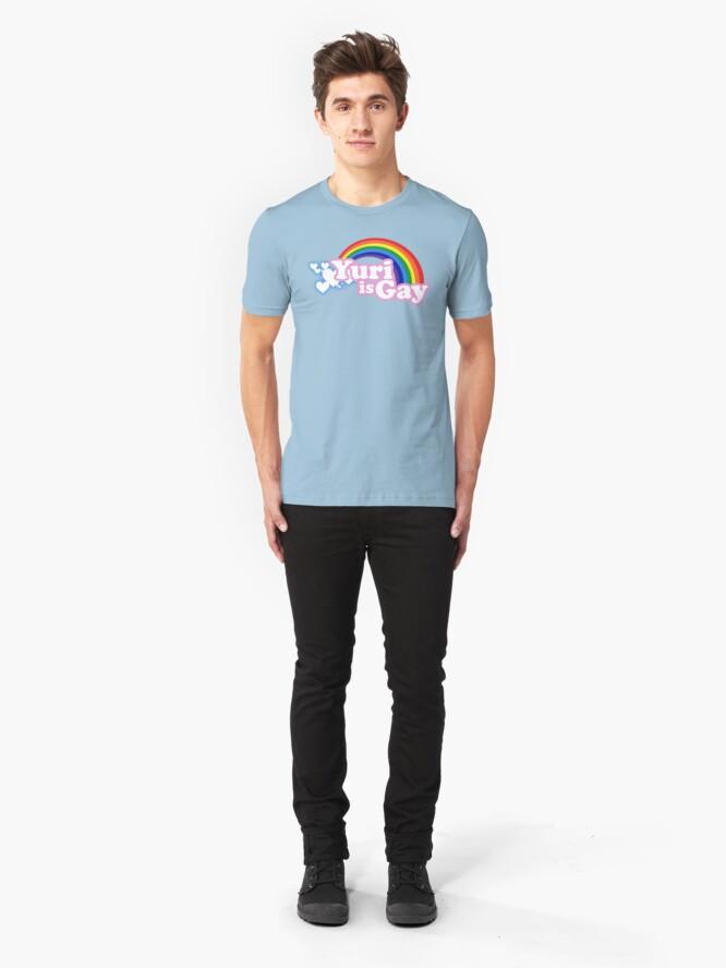 Alternate view of Yuri is Gay Slim Fit T-Shirt