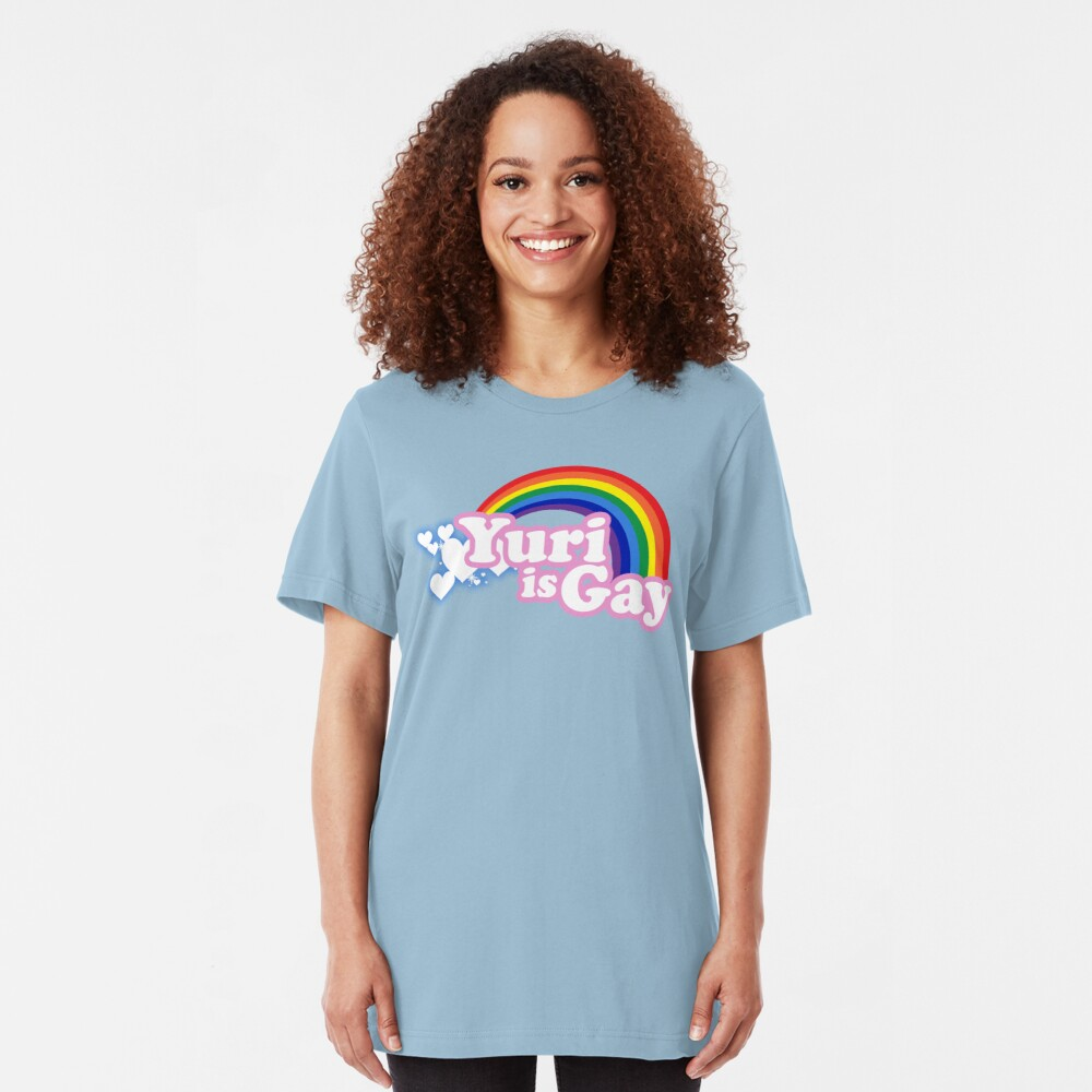 Yuri is Gay Slim Fit T-Shirt