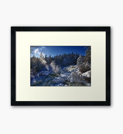 Plaisance Waterfalls Framed Print